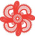 Spiritual swirl cross vector image
