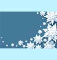 white snow wave vector image vector image