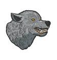 wolf head tattoo sketch vector image vector image