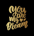 you are my dream lettering phrase for poster card vector image vector image