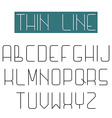 Modern design font alphabet of thin line letter vector image