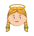 angel heaven halo girl hair icon vector image