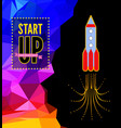 launch of a space rocket in the drawing style vector image