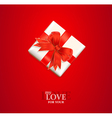 valentines gift background vector image