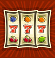 poster for slot machine vector image