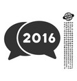 2016 chat icon with job bonus vector image vector image