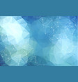 abstract low poly blue technology background vector image vector image