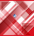 abstract red and white technology geometric shape vector image vector image