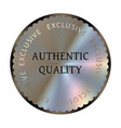authentic quality round hologram realistic sticker