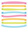 Banner ribbons vector image