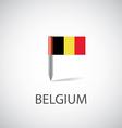 belgium flag pin vector image