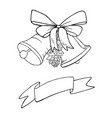 bells christmas decoration sketch vector image vector image
