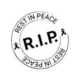 black awareness ribbon on white background seal vector image