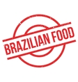 Brazilian Food rubber stamp vector image vector image