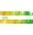 bright green yellow surface splash watercolor vector image vector image