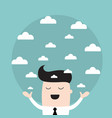 businessman holding a sky with the clouds needs a vector image