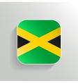 Button - Jamaica Flag Icon vector image