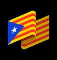 catalonia flag isolated estelada blava banner vector image vector image