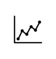 Chart Icon Flat vector image
