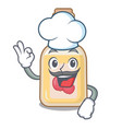 chef apple cider isolated with mascot vector image vector image