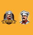 chef symbol or label food concept vector image vector image