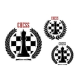 Chess icons with black queens