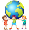 Children and the world vector image vector image