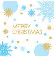 christmas frame on on a white background vector image vector image
