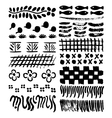 collection of natural impressionism brush patterns vector image