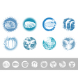 collection vintage marine design labels vector image vector image
