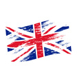color united kingdom national flag grunge style vector image vector image