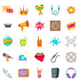 composition icons set cartoon style vector image vector image