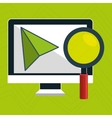 computer search icon vector image vector image