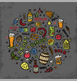 craft beer hand drawn elements vector image vector image