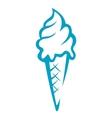 Doodle sketch ice cream cone vector image vector image