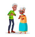 elderly couple modern grandparents old vector image
