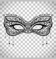 elegant carnival mask on transparent background vector image