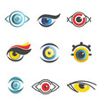 eyes ophthalmology technology icons vector image vector image
