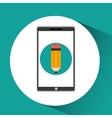 girl app education online write desing vector image