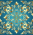 gold baroque seamless pattern damask vector image vector image
