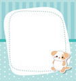 greeting card with cute dog greeting card with vector image vector image