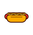 hotdog pizza and food logo icon design vector image