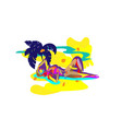 impressionistic background girl sunbathing vector image