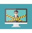 Internet security hacker vector image vector image