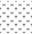 king and queen crown and brilliant on seamless vector image vector image