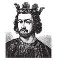 king john vintage vector image vector image