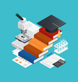learning isometric design concept vector image
