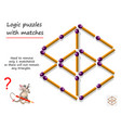 logical puzzle game with matches for children and vector image vector image