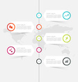 minimal infographics design can be used vector image vector image