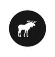 moose icon simple car sign vector image vector image